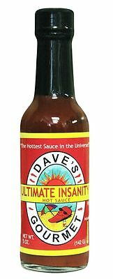 DAVE'S GOURMET ULTIMATE INSANITY HOT SAUCE INSANELY HOT ++ 5 oz. DAUI