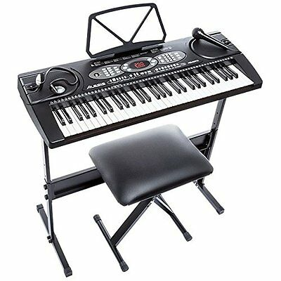 Alesis Melody 61 | 61-Key Portable Keyboard Bundle with Stand, Bench, and