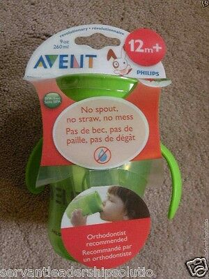 NEW AVENT Revolutionary Green 9 oz Natural Drinking Sippy Cup 12M+