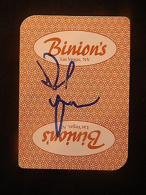 Daniel Negreanu Signed Binions Card Coa 100% Authentic Auto 1