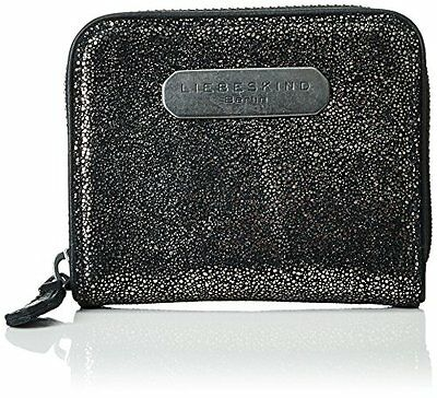 Liebeskind BerlinDot covered glitter - Portafogli Donna, Nero (Schwarz (black g