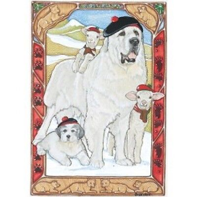 Great Pyrenees Holiday Cards by Pipsqueak Productions - 12 pack with envelopes