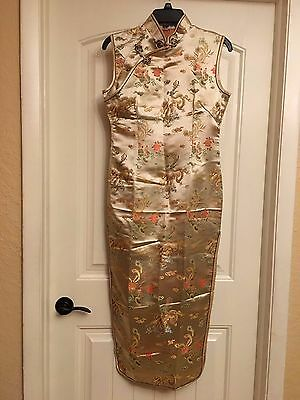 Gold Chinese Awesome Dress Size Small to M