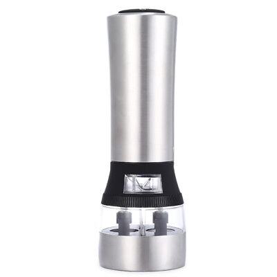 2 in 1 Electric Pepper Salt Mill Grinder Stainless Steel Kitchen Accessory