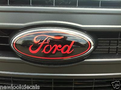 Front & rear oval emblem STICKER / DECAL OVERLAYS Fits 2006 2007 2008 FORD F150