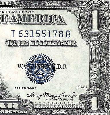 1935A $1 SILVER Certificate! CRISP CHOICE XF! Old US Paper Money!