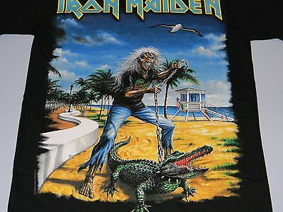 IRON MAIDEN Authentic 2009 FLORIDA USA EVENT T-SHIRT with DATE Small NEW