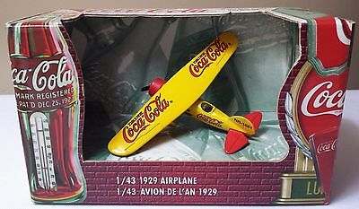 Ertl COCA COLA Die Cast 1929 Airplane 1:43 Scale #27225 New in Box Yellow