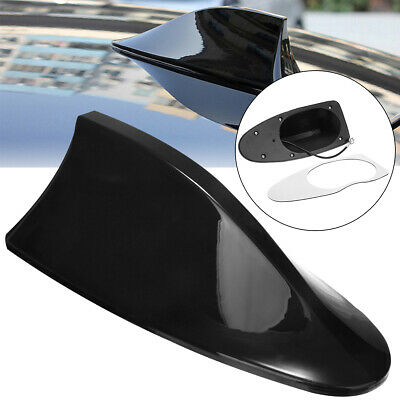 New Auto Car Shark Fin Universal Roof Antenna Radio FM/AM Decorate Aerial Black