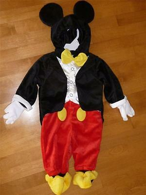 Disney Boys girls MICKEY MOUSE costume dress up Size 3 6 9 12 18 Mo jumpsuit NWT
