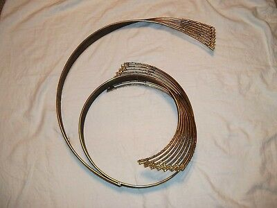 Vtg C JERE Windswept SPRAY WAVE Brass Plated MODERN SCULPTURE Metal MCM Wall Art