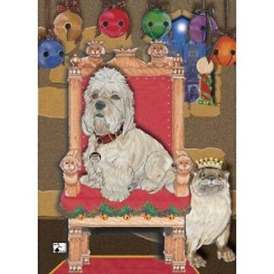Dandie Dinmont Holiday Cards by Pipsqueak Productions - 12 pk with envelopes