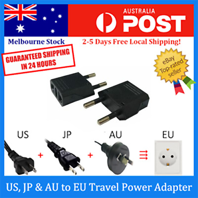 US / AU to EU AC Power Plug Adaptor Travel Converter