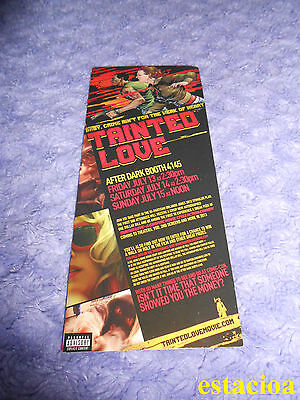 Tainted Love The Movie Promotional Bookmark SDCC 2012 Comic Con Convention