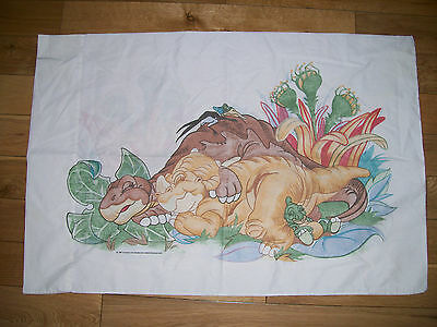 Vintage Land Before Time Pillowcase Pillow Case Littlefoot & Freinds 1987