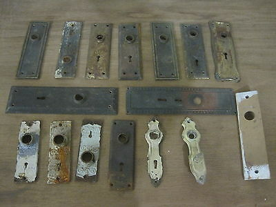14 Vintage Reclaimed Door Knob Back Key Plates Steampunk