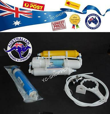 50GPD Marine Fish Reverse Osmosis Water Filter + RO Membrane + Filter + DI Resin