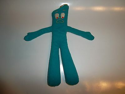 """Gumby Plush 12"""" Worried Funny Face! Vintage"""