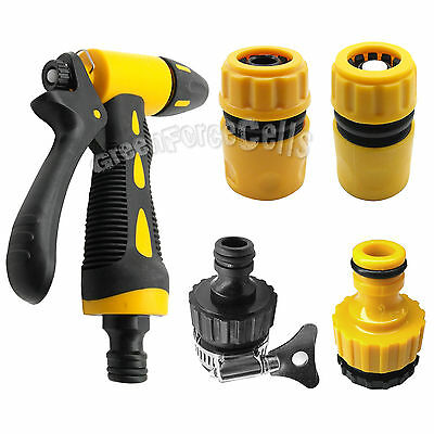 1 Set 5 pcs High Pressure Washing Cleaner Water Hose Nozzle Spray Car Garden