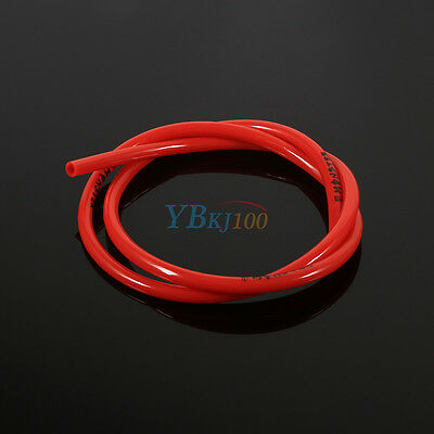Motorcycle Dirt Pit Bike Red Rubber Gas Oil Hose Fuel Line Petrol Tube Pipe 1M