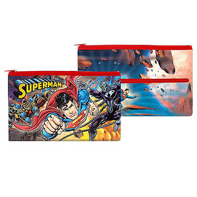 SUPERMAN FLYING PENCIL CASE Birthday School Work stationary Christmas DC582E1