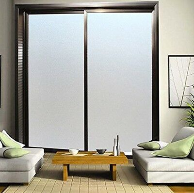 Frosted Window Film Frost Etched Glass Sticky Back Plastic Vinyl Privacy White