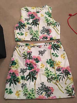 Girls Two Piece Floral Set Size L (12)