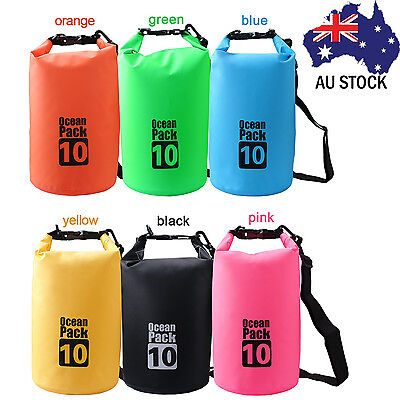 10L Waterproof Dry Carry Bag Sack Travel Camping Sailing Canoe Kayak Lightweight