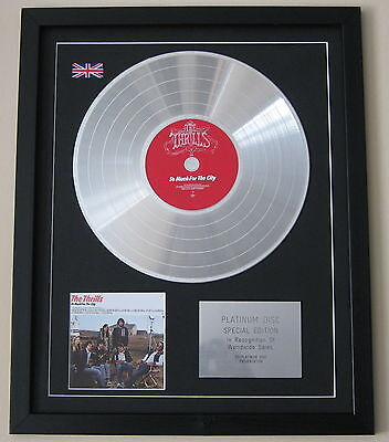 THE THRILLS So Much For The City CD / PLATINUM LP DISC Presentation
