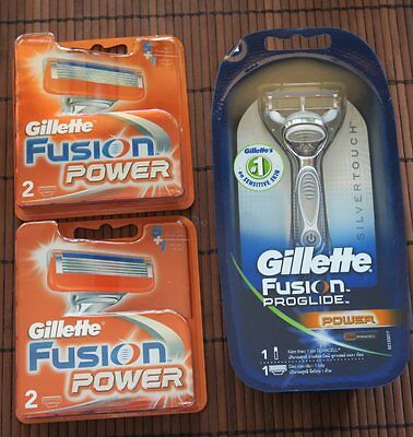 Gillette Fusion Proglide Power shaver and additional 4 cartridges BRAND NEW