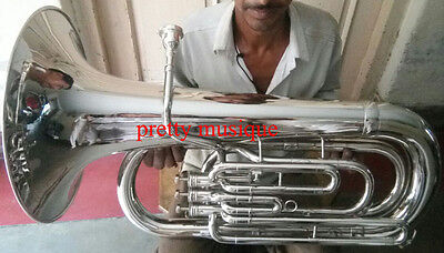 Tuba In Eb Flat Diplomat Model Pure Brass Made In Chrome Polish (New Year Offer)