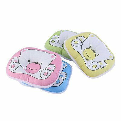 Bear Pattern Pillow Newborn Infant Baby Support Cushion Pad Prevent Flat Head E6