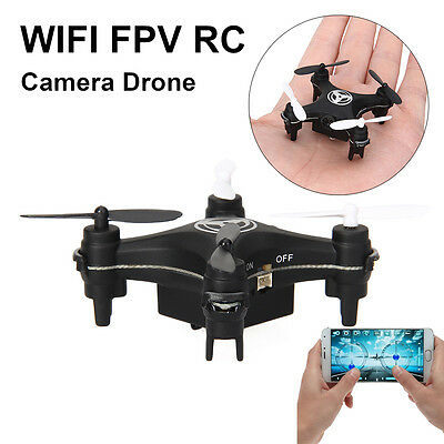 Mini RC Quadcopter 4CH 2.4GHz 6-Axis Gyro 3D UFO Nano Drone FPV WIFI Camera