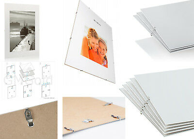 Clip Frames Frameless Photo Picture Artwork Frames Many Large Sizes A1 A2 A3 A4