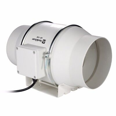 """6"""" 150P 110V Hydroponic Bathroom Extractor Booster Blower InLine Duct Fan 901CFM"""