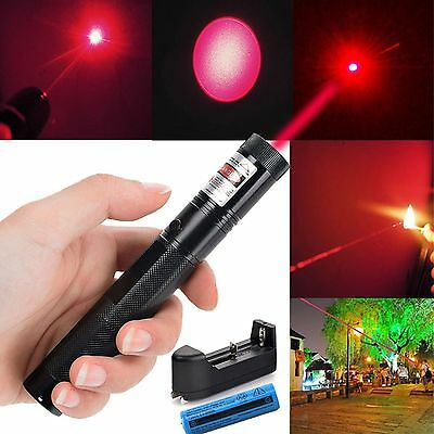 Military Red Laser Pointer Pen G301 650nm Burning Lazer+18650+Charger 1MW