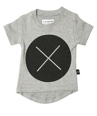New Huxbaby Circle Cross Black Drop Back Tee - Size 3-6 Months