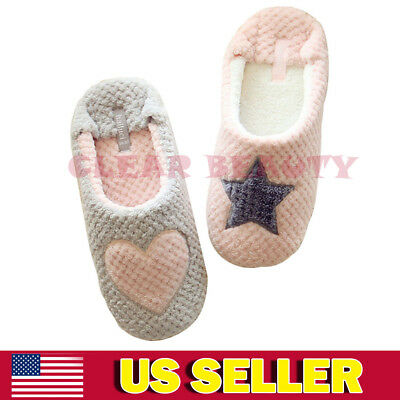 Soft Warm Indoor Slippers Cotton House Home Leisure Anti-Slip Shoes Women Ladies