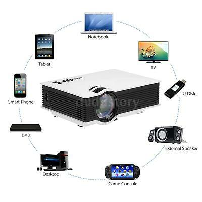 3D WIFI de cine en casa HD 1080P LCD LED Proyector TV/HDMI/SD/VGA/PC/AV/USB S8W8