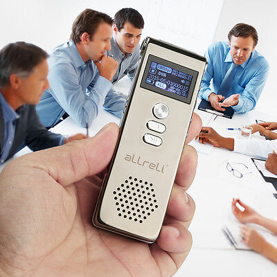 Digital Audio 72 hours Voice Recorder 8GB Rechargeable Dictaphone SPY MP3 Player