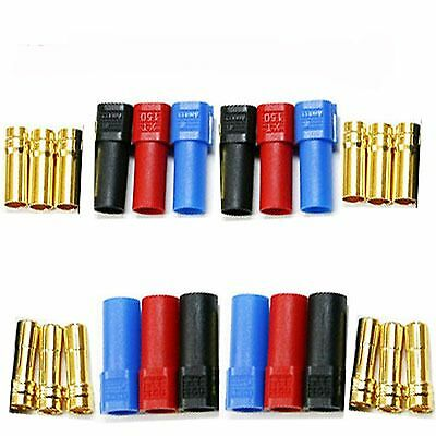 6pairs XT150 6mm Current Motor Bullet Connector Male Female W/ Sleeve Trex 600
