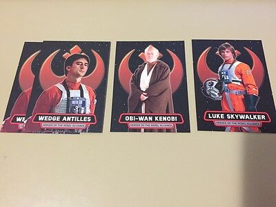 Star Wars - Rogue One Mission Briefing - Heroes Chase Card LOT of 4 - 2016 - NM