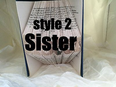 Book folding art pattern Sister style 2 folded book pages 362 (pattern only)