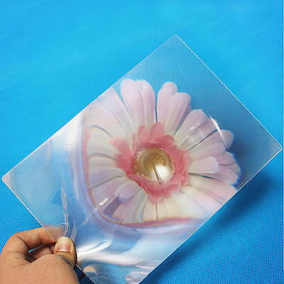 8Full Page Magnifying Sheet Fresnel Lens 3X Magnification PVC Magnifier