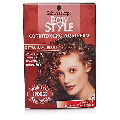 Schwarzkopf Poly Style Conditioning Foam Perm For Dry/Color Treated Hair x2