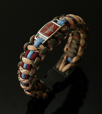 The Parachute Regiment Badged (Forest & Sand Series) 550 Paracord Bracelet