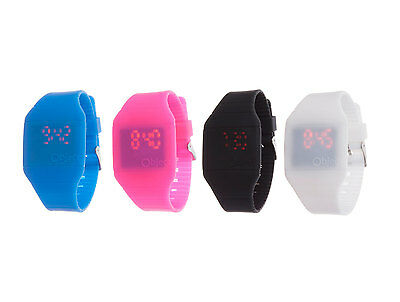 New Silicone Watch Digital Touch Screen Red LED Slimline Watch For Kids & Adults