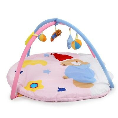 Baby Soft Play Mat Sleeping Bear Gym Blanket Frame Rattle Crawling Toy AUS