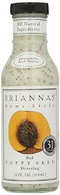 Brianna S RICH Poppy Seed Dressing 355 ml (Pack of 3)