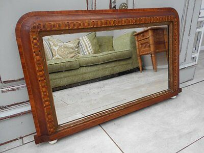 Victorian  Inlaid  Overmantle / Wall  Mirror